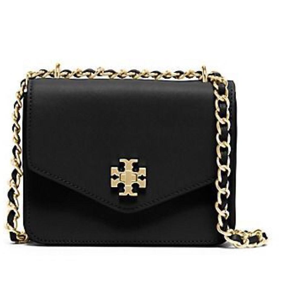 Tory Burch Black Leather Gold Handbag Handbags 2019