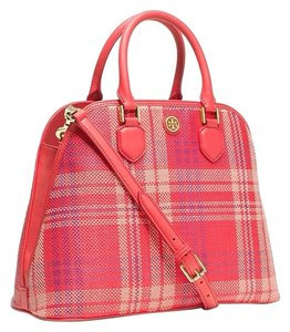 Tory Burch Satchel in Poppy Coral/Carnation