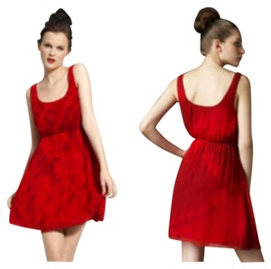 Alice + Olivia short dress Red tie-dye on Tradesy