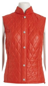 W by Worth Equestrian Orange Quilted Vest
