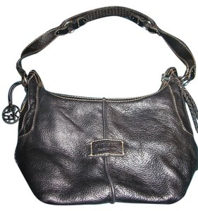 The Sak Leather Silver Hardware Designer Shoulder Bag