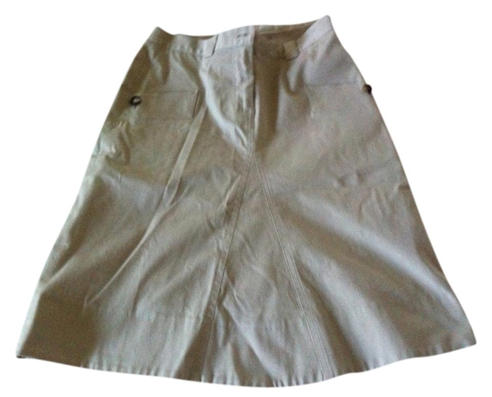 a9320f269d Burberry Khaki Trench A Line Skirt Size 2 (XS, 26) - Tradesy