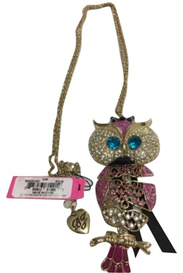 Preload https://img-static.tradesy.com/item/7691893/betsey-johnson-multi-color-gold-enchanted-forest-b08325-n01-necklace-0-2-540-540.jpg