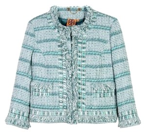 Tory Burch Tweed Cool sky/storm (light blue/multicolor) Jacket