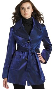 Hilary Radley Women Metallic Trench Coat