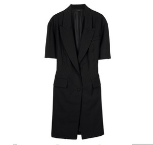 Phi Wool Vented New York Runway Black Blazer