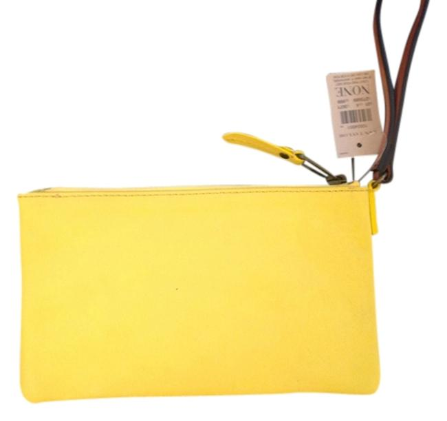 Item - Yellow Leather Clutch