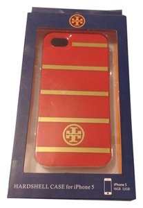 Tory Burch Tory Burch IPhone 5/5s Case Cover Gold Stripes Red