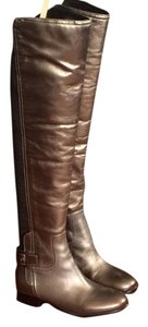 Tory Burch Gunmetal Green Boots