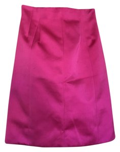 Marc Jacobs Satin Designer Skirt Pink