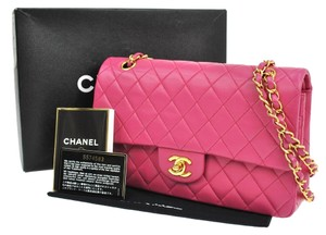 Chanel Quilted Cc Double Flap Chain Leather Shoulder Bag