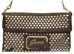 Guess Clutch Studded Metal Chain Cross Body Bag