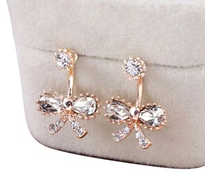 Other New 14K Gold Filled Cubic Zirconia Bow Stud Earrings J1402