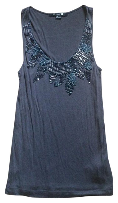 Preload https://item3.tradesy.com/images/forever-21-gray-charlotte-russe-tank-shirt-tee-embellished-beaded-vintage-rare-club-party-unique-s-s-769732-0-2.jpg?width=400&height=650
