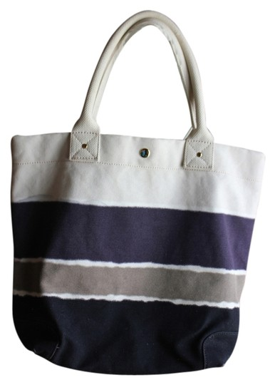 J.Crew Tote in TAN , GRAY AND PURPLE