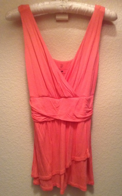 New York & Company & Nyco The Limited Loft Tank Empire Waist Soft Slim Chic Vintage Unique Casual Xs Xsmall Small 0 2 4 Summer Top Pink