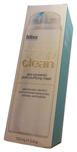 Bliss New Bliss steep clean spa powered pore purifying mask