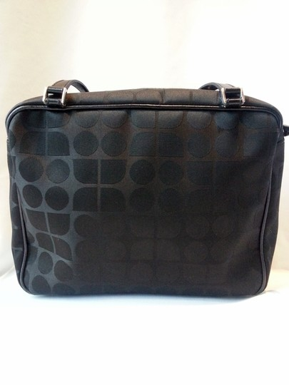 Kate Spade Made In Italy Hologram Sateen Dot Noel Leather Handles Lampo Zipper Silver Hardware Metal Stamped Logo Tote in Black Image 1