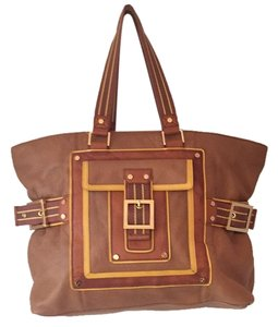 Tory Burch Tote in Tan & Yellow