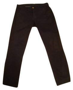 J Brand Made In The Usa Made In California Japanese Twill Tux Stripe Capri/Cropped Denim-Dark Rinse