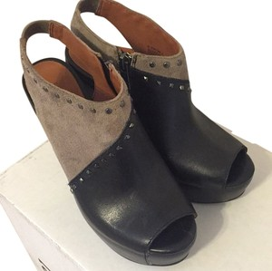 Lucky Brand Black/Taupe Wedges