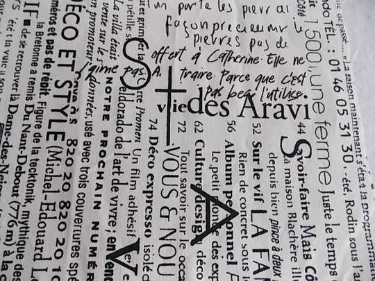 Black and White French Script Wht Table Runners Tablecloth Image 3