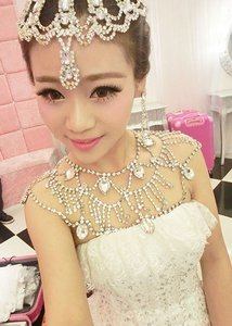 Rhinestone Bridal Shoulder Necklace