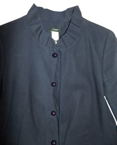 J.Crew Suit Work Ruffle Navy Blue Blazer