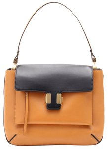 Chlo Black Satchel in Amelia Colorblock camel Chloe