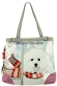 FUZZY NATION Tote in Multi/ Grey