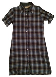 What Goes Around Comes Around short dress Blue Plaid on Tradesy