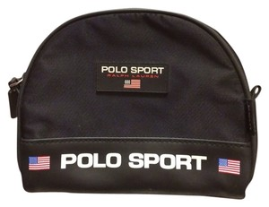 Polo Sport Polo Sport Black Nylon Zip Around Travel Cosmetic Bag