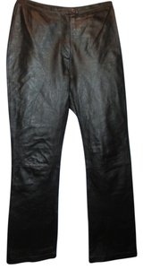 Newport News Boot Cut Pants black leather
