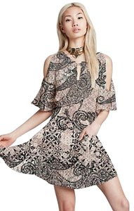 Free People short dress Love Birds Mini Mini Stone Combo Love Birds Mini Gauze Rayon Bohemian Boho Boho Chic on Tradesy