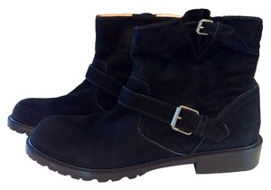 Marc by Marc Jacobs Suede Leather Motorcycle Black Boots