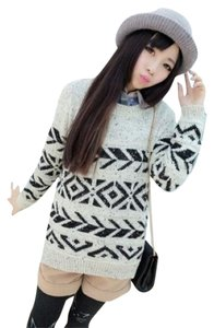 Aztec Knit Pullover Sweater