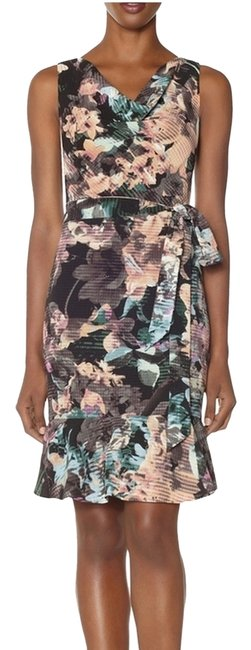 Item - Multicolor The Limited Floral Flounce Sundress Above Knee Work/Office Dress Size 2 (XS)