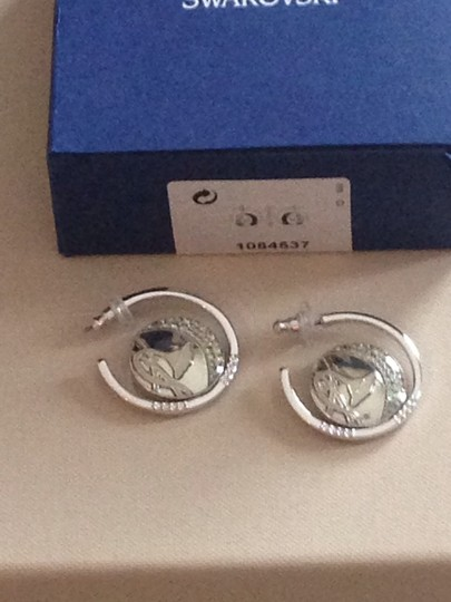 Swarovski Silver Hoop Earrings