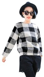 Other Check Knit Long Sleeves Woolen Sweater