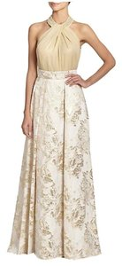 Carmen Marc Valvo Brocade Skirt Ivory/Gold