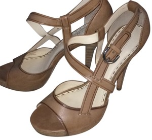 Coach Taupe Slingback Nude Platforms