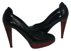 Sergio Rossi Platform black/BURGANDY Pumps