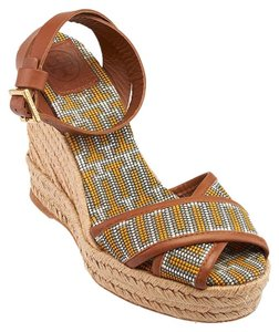 Tory Burch Brown & Multi-Color Wedges