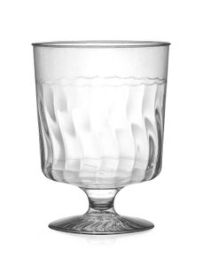 390 Disposable 8oz One Piece Stemware
