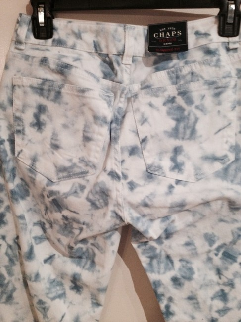 Chaps Capris Blue and White