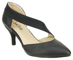 Red Circle Footwear Pointy Pump Low Heel Black Pumps