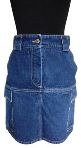 Louis Vuitton Mini Skirt Denim Blue