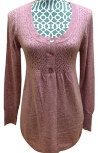 BCBGMAXAZRIA Knit Blouse Loose Fit Long Sleeve Round Neck Back String Women Ladies Misses Girls Juniors Soft Wool Angora Plush Sweater