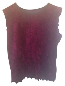 Napier Fall Autumn Velvet Top Maroon