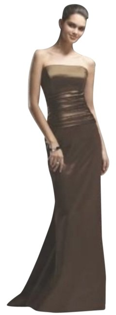 Item - Brown 2735 Long Night Out Dress Size 24 (Plus 2x)